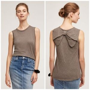 NWT ANTHROPOLOGIE Left Of Center Bow-Back Tank Top